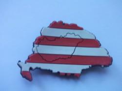 Árpád sávos zászló díszes Nagy Magyarország hűtőmágnesen
