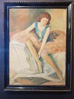 Táncosnő , balerina festmény
