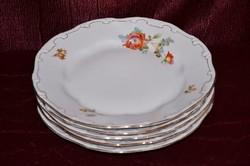 5 db Zsolnay tollazott barokkos lapos tányér