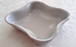 Zsolnay porcelán szögletes régi fehér tál