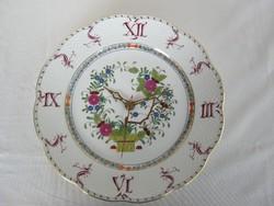 Herendi porcelán kézzel festett óra falióra tányéróra