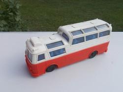 Ritka Régi Tudor Rose trafikáru műanyag busz a képek szerinti állapotban nagy méretű