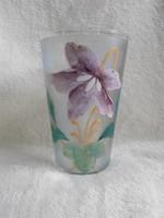 Cca 1900 gyönyörű tejüveg Budapesti Emlék pohár, emlékpohár