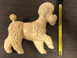 Retro uszkár műanyag régi játék, kutya, ritka darab