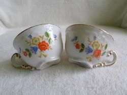 Antik aranyozott, bájos Zsolnay csésze pár