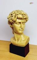 Dávid fejszobor, torzó, görög istenség, szignálva