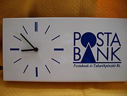 POSTABANK retro reklám óra