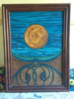 Gaia, Olaj festmény, fatáblára