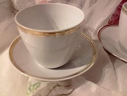 Hollóházi  porcelán 4 személyes kávés, mokkás készlet  -1-1 db  tej - tejszín kiöntővel