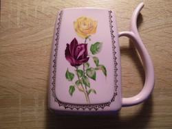 Gyönyörű rózsás szopókás porcelán kúrapohár