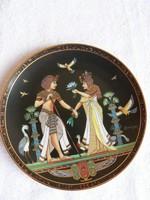 Egyiptomi porcelán falitányér