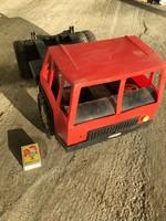 Retro Piros Nagyméretű Műanyag Dömper Kamion Játék Autó