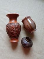 Leáraztam.  3 db antik kerámia váza