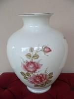 Nagyméretű porcelán rózsás váza