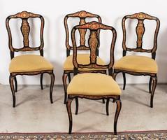 Négy darab Boulle stílusú szék
