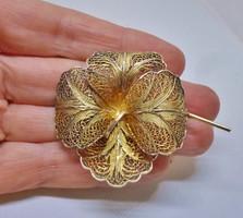 Csodás antik ezüst virág bross/medál