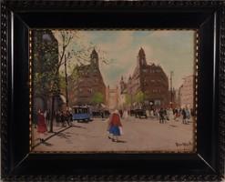 BERKES ANTAL (1874 - 1938): Klotild Paloták az Erzsébet-híddal