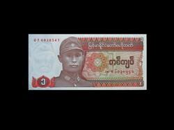 UNC - 1 KYAT - MYANMAR/BURMA - 1990-BŐL