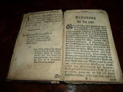 Bőrkötésű antik könyv 1758-ból