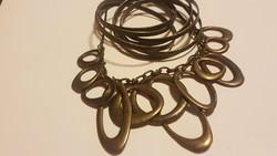 Indiai rézötvözet nyakék és karkötő egyedi és mutatós-