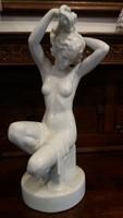 Ó -Herendi, Fésülködő Nő - ( Óriás: 56 cm. magas ) - Hófehér