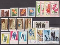 DDR. összeállítás, posta tiszta, blokkokkal.