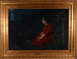 NÁRAY AURÉL (1883 - 1948): Merengés, 1914