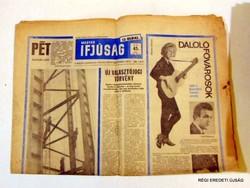 1966 november 12  /  MAGYAR IFJÚSÁG  /  SZÜLETÉSNAPRA RÉGI EREDETI ÚJSÁG Szs.:  6782