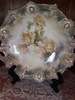 Pazar,rózsás porcelán tál(Prussia?)