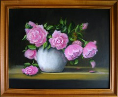 Moona - Rózsák olajfestmény