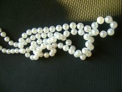 Tekla és kristály, 82 cm-es gyöngysor.