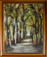 Moona - Erdőben EREDETI Moona festmény