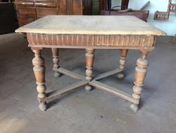 Vintage régi ónémet fa asztal ebédlőasztal