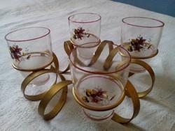 4 személyes réz pohártartó