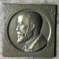 Zsákodi Csiszér János: Jókai Mór plakett márvány lapon, 1925
