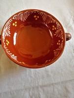 Kerámia kétfüles csésze, leveses csésze