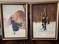 Régi festmények hagyatékból - párban