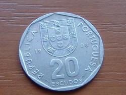 PORTUGÁLIA 20 ESCUDOS 1988