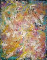 Nagyméretű absztrakt festmény - 100*80 cm