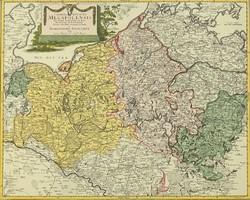 0T196 Antik Mecklenburg térkép másolat 1781