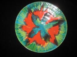 Retro fali tányér   ,jelzett, szignós , szép állapot