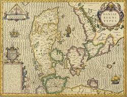 0T198 Antik Dánia térkép másolat