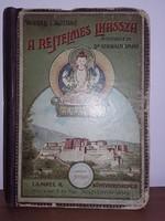Waddell L. Austine  A rejtelmes Lhassza - Aranyozott gerincű kiadói vászonkötésű antik könyv