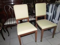 2 db antik szecessziós szék felújítva