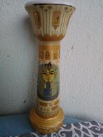 Egyiptomi fáraós porcelán váza