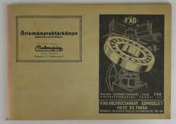 0T216 Malomipari Őrleményraktárkönyv 1943