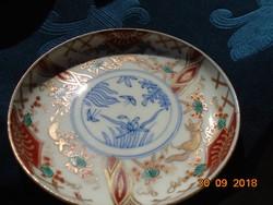"""EDO korból(1603-1868) ARITA KAKIEMON IMARI """"róka és a szőlő"""" motívummal kis tál-12 cm"""