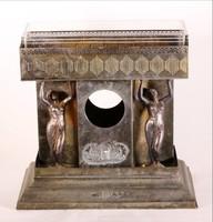 Gyümölcstál 40x40 eredeti üveggel női szobrokkal óra hiányzik