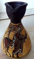 Görög kerámia karafa, az antik kézzel készített másolata