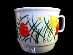 Ritka Zsolnay tulipános csésze